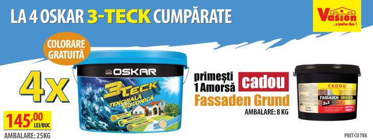 Promo Oskar 3-Teck cu amorsa cadou